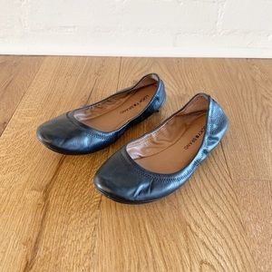 Lucky Brand black Emmie leather flats size 8